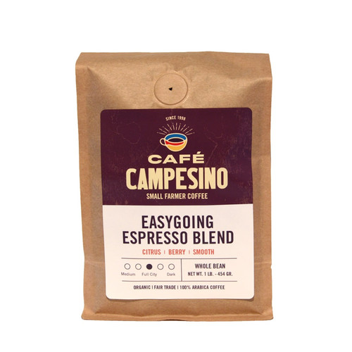 Easygoing Espresso Blend Full City Roast Coffee