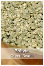 Bolivia Fair Trade Organic Green Coffee Beans