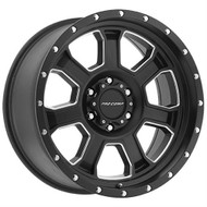 20 in. Pro Comp Series 5143 Sledge Wheel Satin Black and Milled Finish - 5143-2955