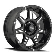 20 in. Pro Comp Series 8151 District Wheel Black Finish with Machined Accents - 8151-2936