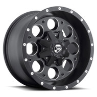 MHT Fuel 1 Piece Revolver Wheel Matte Black with Milled Accents Available in Multiple Sizes - D525 *Product image shown not representative of all configurations. Vehicle specific fitment will change offset, dish and center profile.