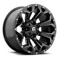 MHT Fuel 1 Piece Assault Wheel Gloss Black and Milled - D576 *Product image shown not representative of all configurations. Vehicle specific fitment will change offset, dish and center profile.