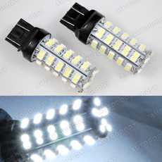 68-SMD White LED Bulbs for Stop Brake Lights 7440 7443