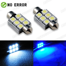 "Error Free 1.50"" 36mm LED Bulbs 6-SMD with Built-in Load Resistors For European Cars"