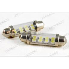 41mm White Festoon LED Bulbs 8-SMD