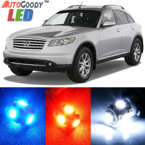 Premium Interior LED Lights Package Upgrade for Infiniti FX35 FX45 (2003-2008)