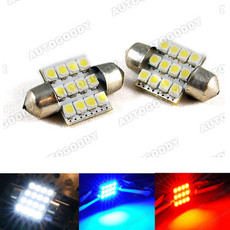 "Super Bright 1.25"" 31mm Festoon LED Bulbs 12-SMD 3022 3175 DE3175"