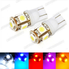 T10 Wedge LED Bulbs 5-SMD
