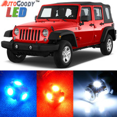 Premium Interior LED Lights Package Upgrade for Jeep Wrangler (2007-2017)