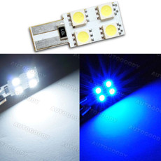 1 x T10 Wedge LED Light Bulb with Built-in Load Resistors 4-SMD