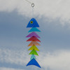 Wind Chime - Rainbow Fish Stacked Glass