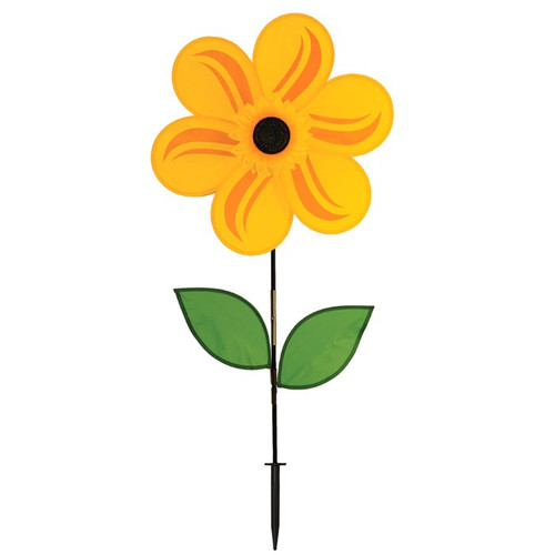 "Flower Spinner - 19"" Yellow Sunflower with Leaves"