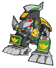 "Mighty Morphin Power Rangers Dragonzord SD art print 5""x7"" Mike Pflaumer"