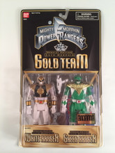 Mighty Morphin Power Rangers Gold Team White and Green Ranger 2 pack