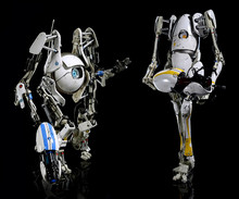 Portal 2  Atlas and Peabody 1/6 scale action figures ThreeA