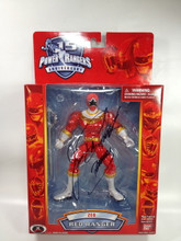 Power Rangers 15th Anniversary Signed Red Zeo Ranger Action Figure Jason David Frank