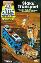 Go Bots Super GoBots Staks Transport with Trailer Box set