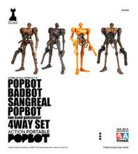 ThreeA Ashley Wood Popbot 4 pack  1/12 Scale Badbot Sangreal