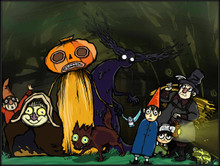 Cartoon Networks: Over The Garden Wall Fan Art.   8.5x11in Printed on semi-gloss card stock.