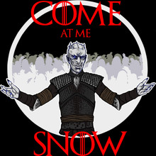 "Come at me Snow ! Art print 11""x17"" Emily Barr"