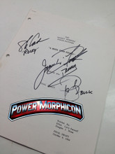 Original Mighty Morphin Power Rangers Signed Script Episode 99 Jason David Frank Steve Cardenas Paul Schrier