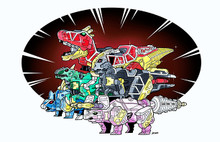 Power Morphicon 2016 Dino Charge Zords Convention Print