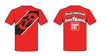 Power Morphicon 2016 Convention Plat Power Rangers Ninja Steel T-Shirt 2 X Large