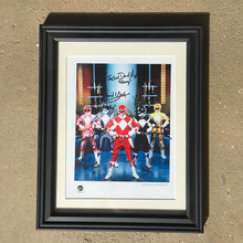 Mighty Morphin Power Rangers 2nd cast signed promo sheet