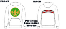 Power Morphicon 2018 Convention Power Rangers Hoodie Drakkon logo Medium