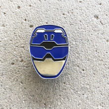 Power Morphicon 2018 Power Rangers Beast Morphers Blue Helmet Pin