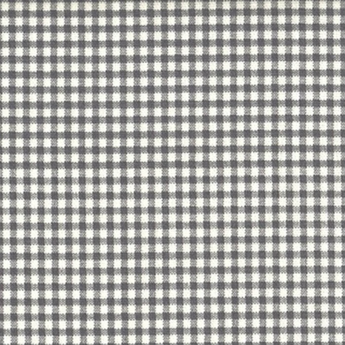 French Country Brindle Gray Gingham Tailored Bedskirt