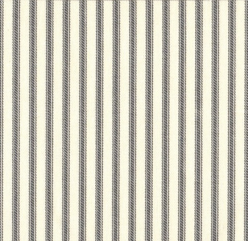 French Country Brindle Gray Ticking Shower Curtain Close
