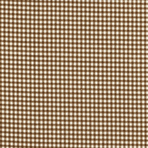 French Country Suede Brown Gingham Rod Pocket Patio Door