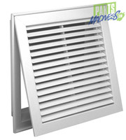 Grille Tech 16X16 A/C Ac White Return Grille Powder Coated 18X18 Ext With Filter