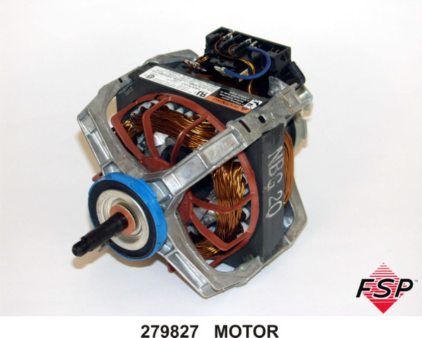 Whirlpool 279827 dryer motor with pulley for Kenmore washer motor reset