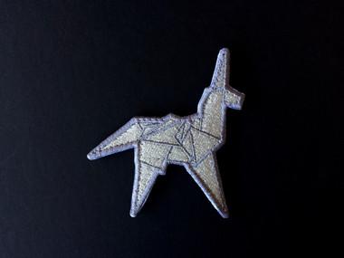 Silver Origami Unicorn - Morale Patch