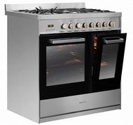 Parmco 900mm Double Door Dual Fuel Free Standing Oven