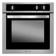 Parmco OV-1-6S-GAS Black and Stainless Gas Wall Oven