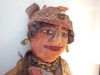 Antique Rag Doll, Smiling Woman with Jewelry from 1800's