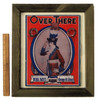 """""""Over There"""" by George M Cohan. Vintage sheet music, double sided frame."""