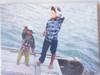 Children on the Water.  Halong Bay. Vietnam.  Giclee