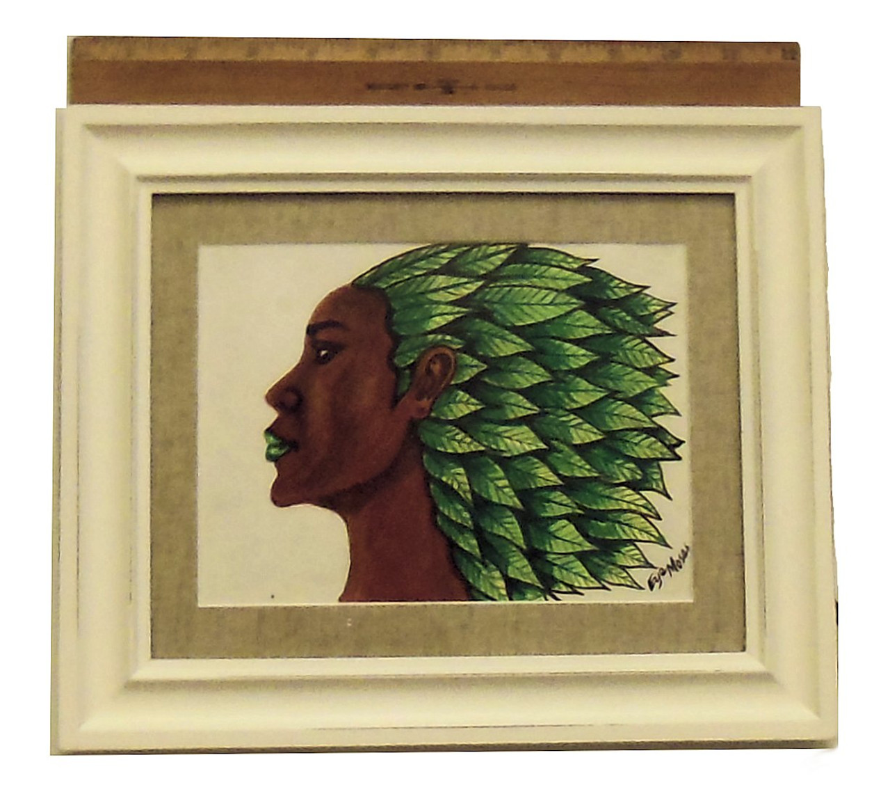 """I Am Growth""  Framed oil paint on paper.  Zimbabwe Collection"