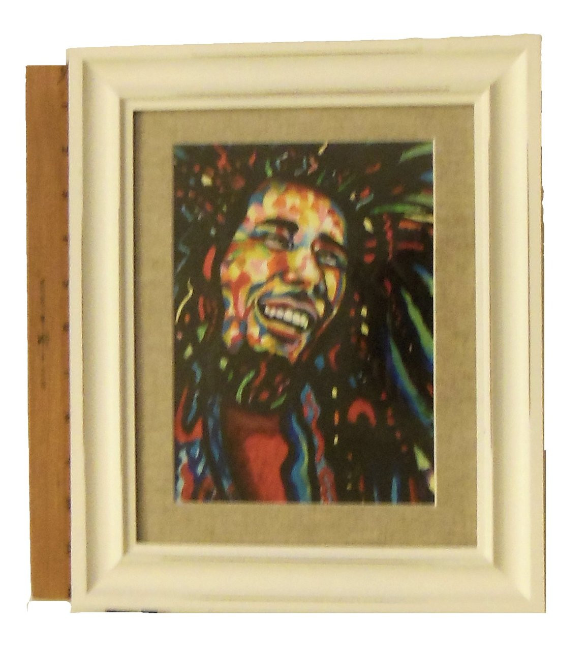 """""""Bob Marley""""  Framed oil paint on paper.  Zimbabwe Collection"""