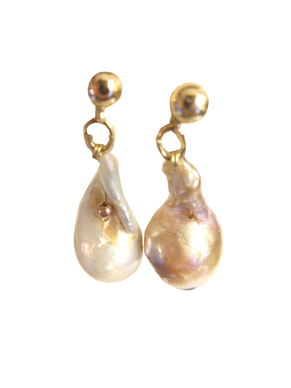 Jumbo Pearl Earrings-One of a kind-009