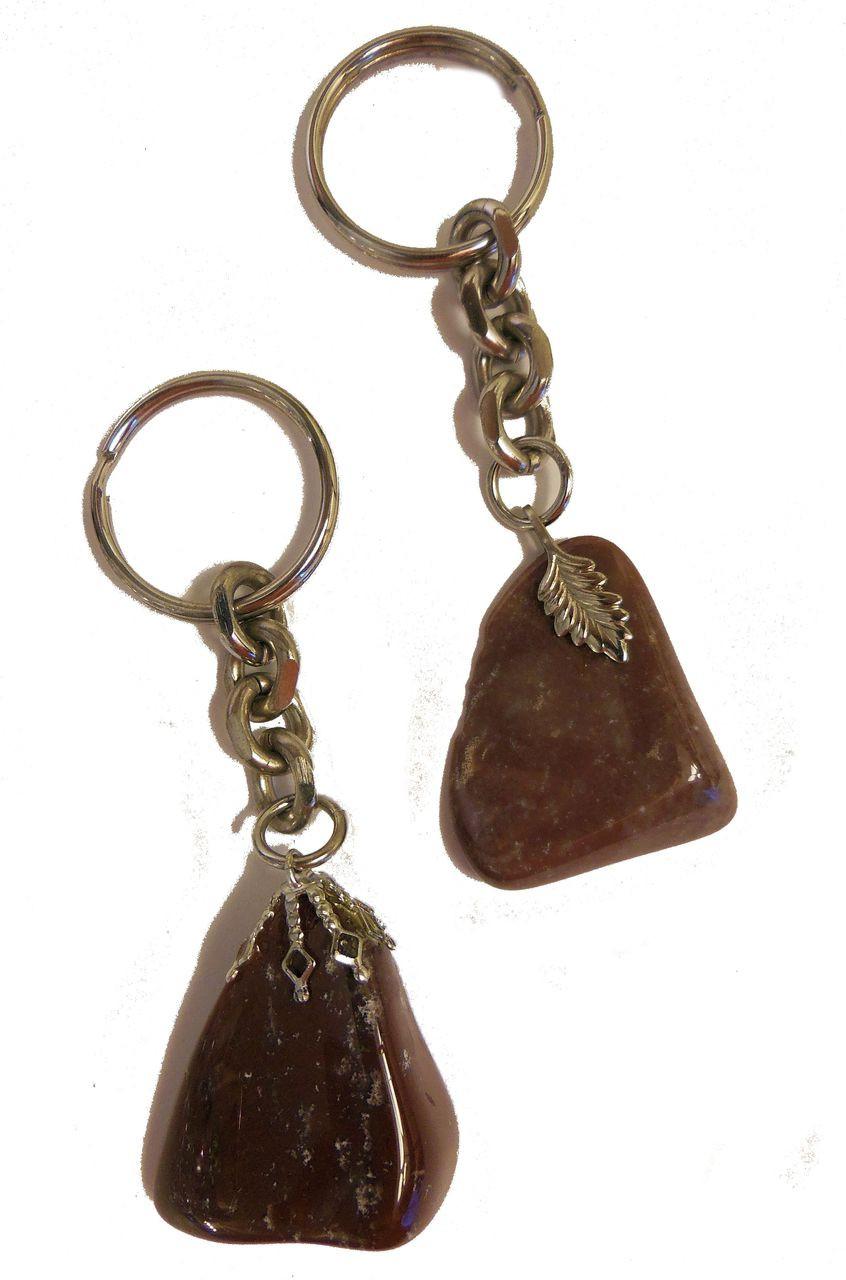 Get Stoned - Gemstone Keyrings - Rusty bronze color