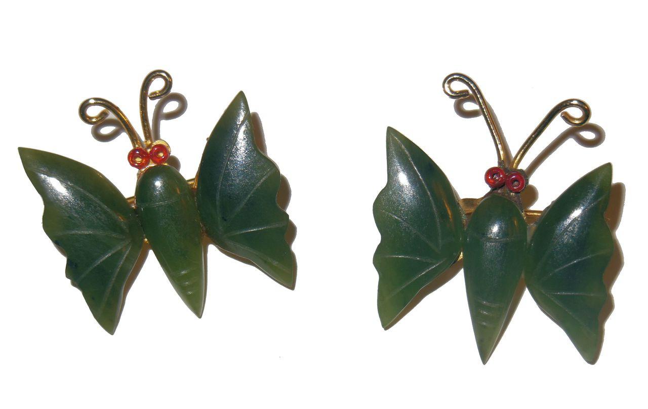 Vintge Butterfly Brooch with Gemstone Wings