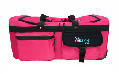 Hot Pink bag with Black Trim
