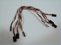 24AWG super soft silicon JR male/male 200mm (4 Pack)