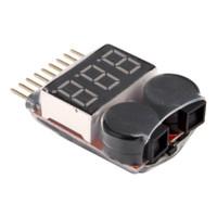 Lipo Battery LED Voltage Meter Indicator / LV alarm 2-8S