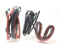 2m Heat Shrink Tubes   (1m Black - 1m Red)